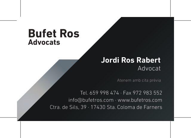 BUFET D'ADVOCATS JORDI ROS